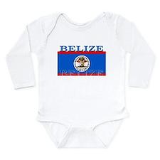 Belize Belizean Flag Long Sleeve Infant Bodysuit
