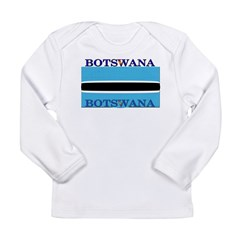 Botswana Flag Long Sleeve Infant T-Shirt
