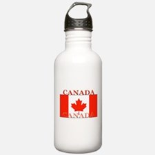 Canada Canadian Flag Water Bottle