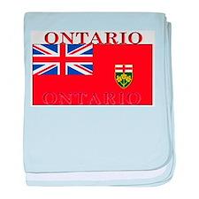 Ontario Ontarian Flag baby blanket