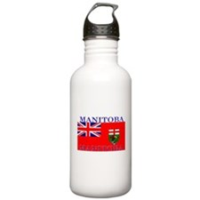Manitoba Manitoban Flag Sports Water Bottle