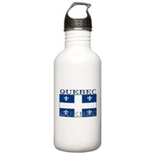 Quebec Quebecer Flag Sports Water Bottle