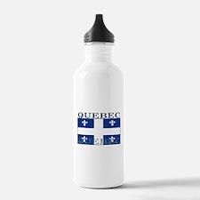 Quebec Quebecer Flag Water Bottle