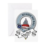 MacNeil Clan Badge Greeting Cards (Pk of 10)