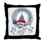 MacNeil Clan Badge Throw Pillow