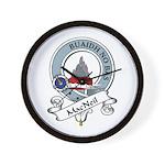 MacNeil Clan Badge Wall Clock