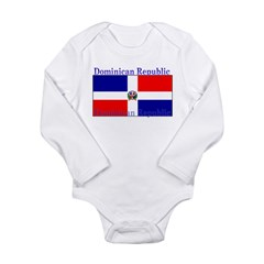 Dominican Republic Flag Long Sleeve Infant Bodysui