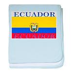 Ecuador Ecuadorian Flag baby blanket