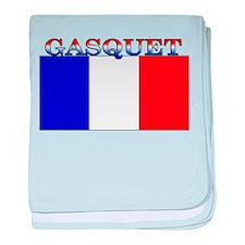 Gasquet France Flag baby blanket