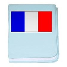 France French Blank Flag baby blanket