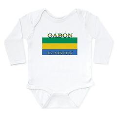 Gabon Gabonese Flag Long Sleeve Infant Bodysuit