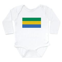 Gabon Blank Flag Long Sleeve Infant Bodysuit