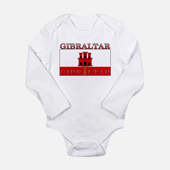 Gibraltar Flag Long Sleeve Infant Bodysuit
