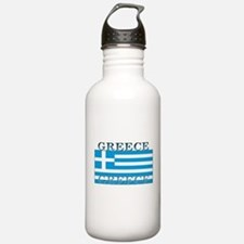Greece Greek Flag Water Bottle