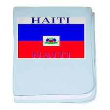 Haiti Haitian Flag baby blanket