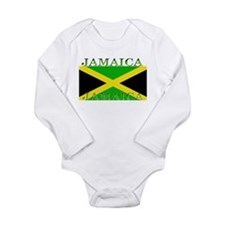 Jamaica Jamaican Flag Long Sleeve Infant Bodysuit