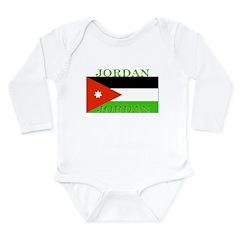 Jordan Jordanian Flag Long Sleeve Infant Bodysuit