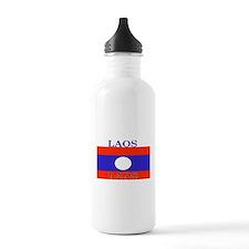 Laos Lao Flag Water Bottle