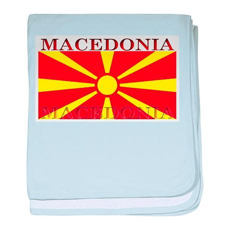 Macedonia Macedonian Flag baby blanket