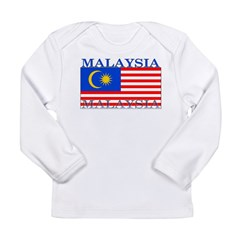 Malaysia Malaysian Flag Long Sleeve Infant T-Shirt