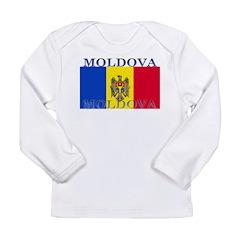 Moldova Moldovan Flag Long Sleeve Infant T-Shirt