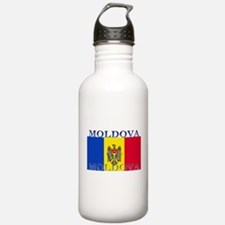Moldova Moldovan Flag Water Bottle