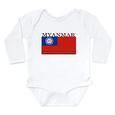 Myanmar Long Sleeve Infant Bodysuit