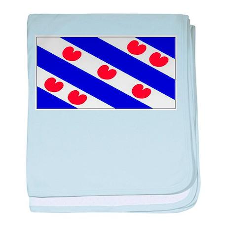 Friesland Frisian Blank Flags baby blanket