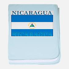 Nicaragua Nicaraguan Flag baby blanket