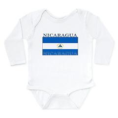 Nicaragua Nicaraguan Flag Long Sleeve Infant Bodys