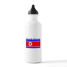 North Korea Korean Flag Water Bottle