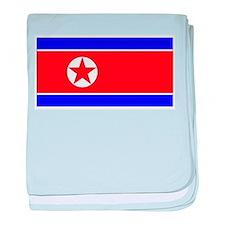 North Korean Blank Flag baby blanket