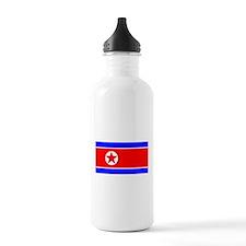 North Korean Blank Flag Water Bottle
