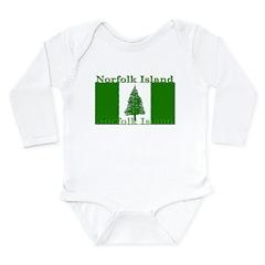 Norfolk Island Long Sleeve Infant Bodysuit