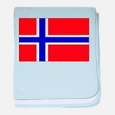 Norway Norwegian Blank Flag baby blanket