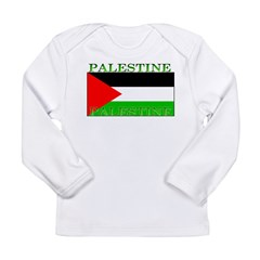 Palestine Palestinian Flag Long Sleeve Infant T-Sh