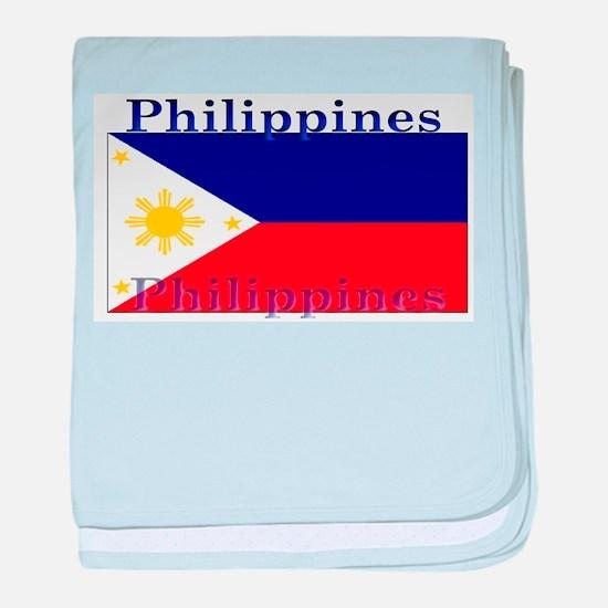 Philippines Filipino Flag baby blanket