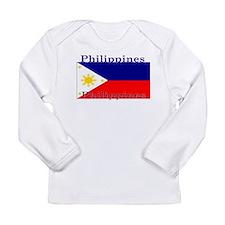 Philippines Filipino Flag Long Sleeve Infant T-Shi