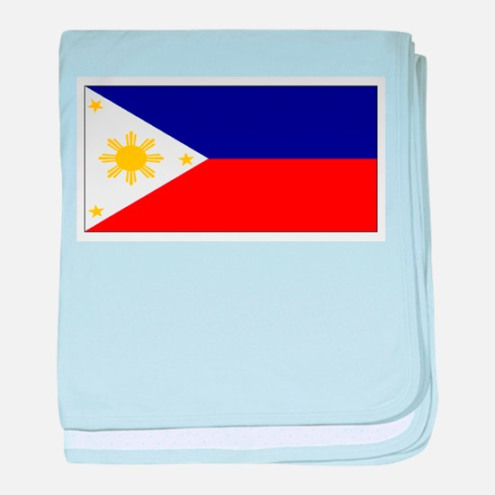 Filipino Pilipinas Blank Flag baby blanket