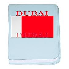 Dubai Flag baby blanket