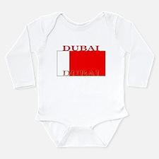 Dubai Flag Long Sleeve Infant Bodysuit