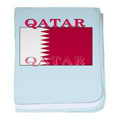 Qatar Qatari Flag baby blanket