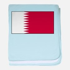 Qatar Qatari Blank Flag baby blanket