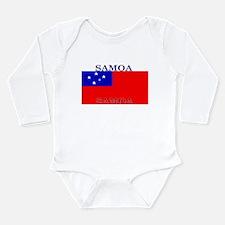 Samoa Samoan Flag Long Sleeve Infant Bodysuit