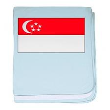 Singapore Blank Flag baby blanket