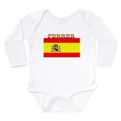 Ferrer Spain Spanish Flag Long Sleeve Infant Bodys
