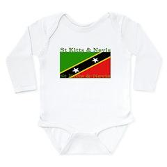 St Kitts & Nevis Long Sleeve Infant Bodysuit