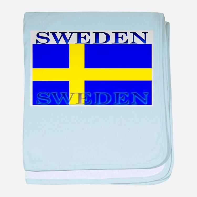 Sweden Swedish Flag baby blanket
