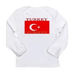Turkey Turkish Flag Long Sleeve Infant T-Shirt