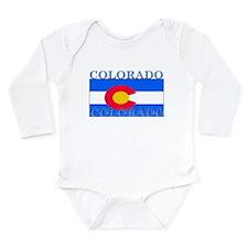 Colorado State Flag Long Sleeve Infant Bodysuit